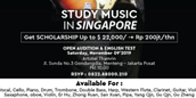 Audition Music for Get Scholarship  Study in Singapore
