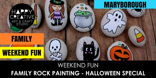Family Rock Painting - Halloween