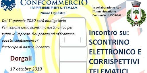 DORGALI SEMINARIO SU: SCONTRINO ELETTRONICO E CORRISPETTIVI TELEMATICI
