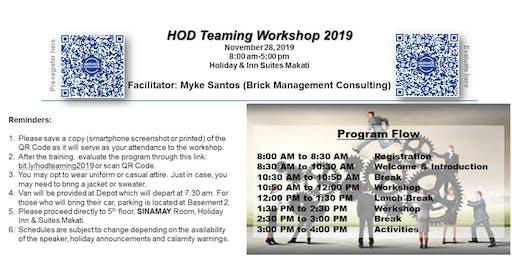 HOD Teaming Workshop 2019