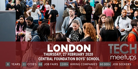 London Tech Job Fair Spring 2020 by Techmeetups tickets