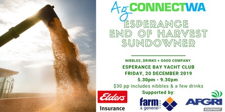 AgConnectWA Esperance End of Harvest Sundowner tickets