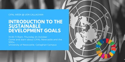 Come and learn about CIFAL Newcastle and the Sustainable Development Goals