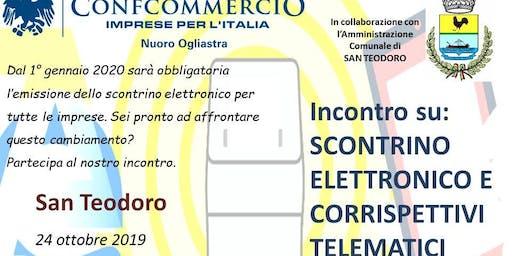 SAN TEODORO SEMINARIO SU: SCONTRINO  ELETTRONICO E CORRISPETTIVI TELEMATICI