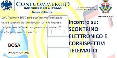 BOSA SEMINARIO SU SCONTRINO ELETTRONICO E CORRISPETTIVI TELEMATICI