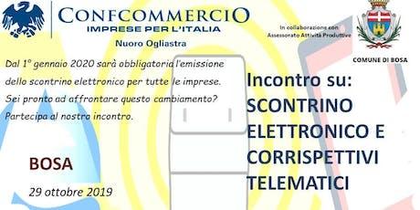 BOSA SEMINARIO SU SCONTRINO ELETTRONICO E CORRISPETTIVI TELEMATICI biglietti