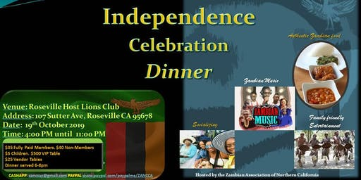 Zambia Independence Celebration - Dinner