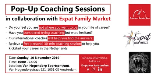 Pop-Up Coaching Sessions at Expat Family Market