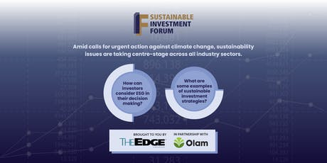 The Edge Singapore | Sustainable Investment Forum 2019 tickets