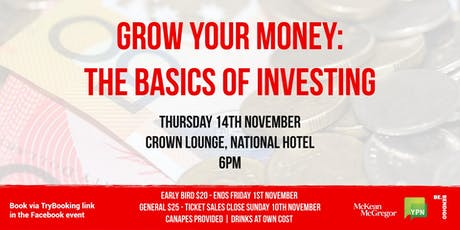 Grow your money: The basics of investing tickets