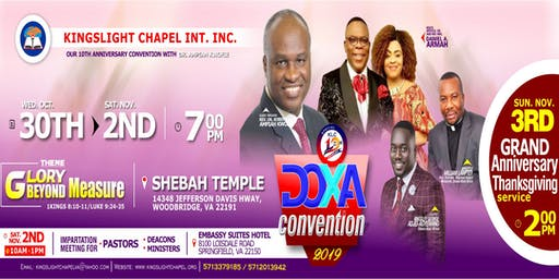 DOXA CONVENTION 2019 WITH REV. DR. AMPIAH KWOFIE