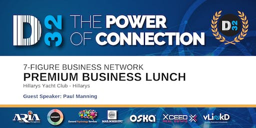 District32 Connect Premium Business Lunch Perth - Thu 24th Oct