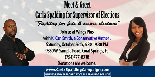 Meet and Greet Candidate Carla Spalding for Supervisor of Elections 2020