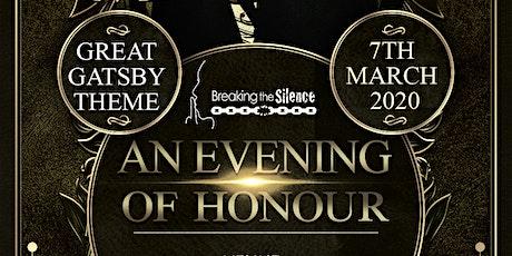 'An Evening of Honour' Black Tie Gatsby Dinner tickets