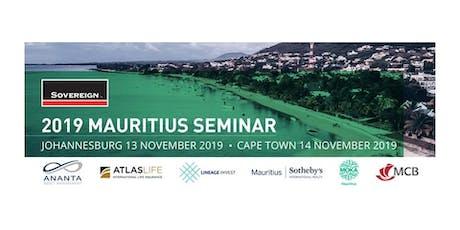 Sovereign Mauritius Seminar 2019 billets