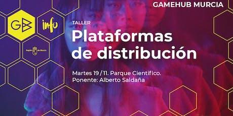"""Taller """"Plataformas de distribución"""" entradas"""