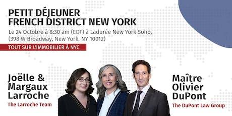 Tout sur l'immobilier à NYC | Le petit déjeuner French District billets
