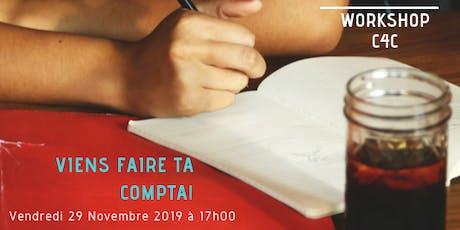 Workshop du 29 Novembre chez C4C, Ecole des métiers de la Gestion billets
