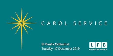 London Fire Brigade Carol Service 2019 tickets