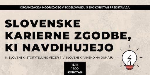 Slovenski Vikend 2019: III. Slovenski Storytelling