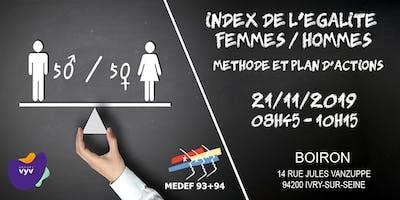 Index de l'égalité femmes-hommes : Méthode et plan d'actions