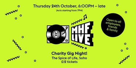 MHF LIVE CHARITY GIG NIGHT  tickets