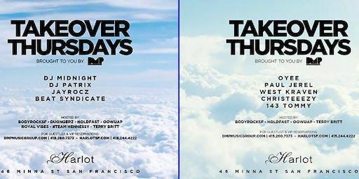 Takeover Thursdays – DJs Oyee / Paul Jerel / West Kraven / Christeeezy / 143 Tommy