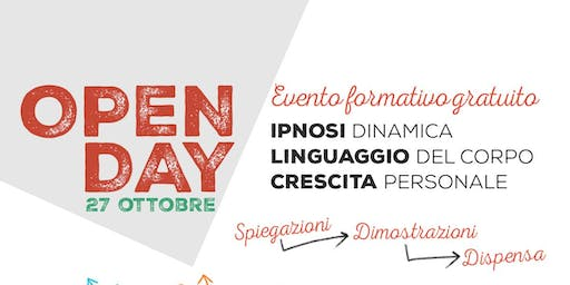 OPEN DAY. Evento formativo gratuito