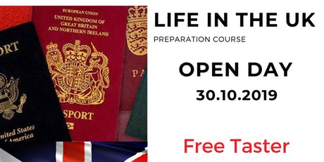 Life in the UK - Open Day/Free taster tickets