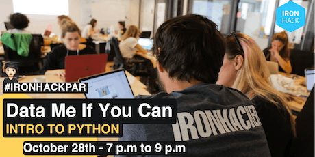 Data Me If You Can | Intro to Python tickets