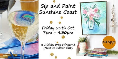 Sunshine Coast Sip and Paint tickets
