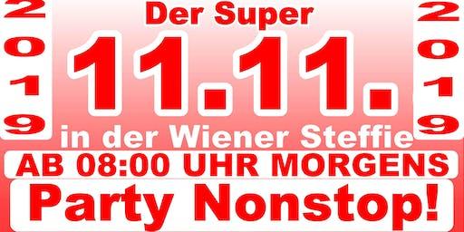 Der Super 11.11. in der Wiener Steffie