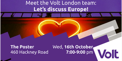Come discuss Europe with the Volt London team!