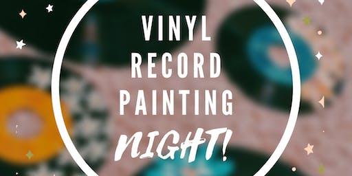 Vinyl Record Painting Night