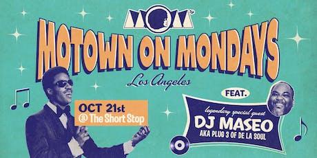 DJ MASEO (of De La Soul) • Motown On Mondays LA tickets
