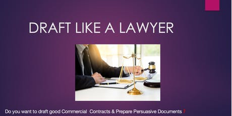 Do you want to draft good Commercial Contracts? tickets