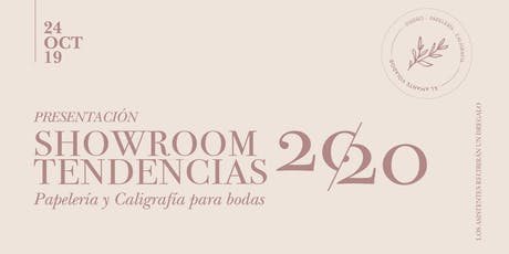 Showroom Tendencias 2020- Papelería de Bodas entradas