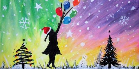 Paint Christmas Street Art + Wine! tickets