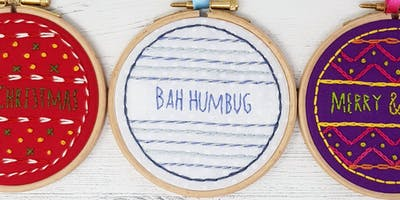 Hand Embroidered Christmas Ornament Workshop - Crafts & Makes - Didsbury