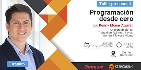 Taller presencial Programación desde Cero - Demium&KeepCoding - BCN entradas
