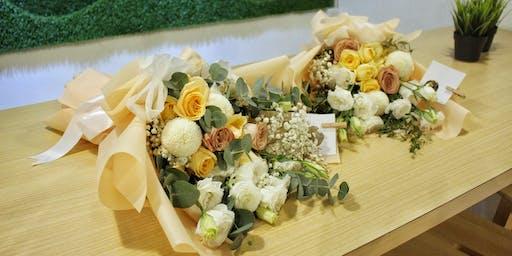 Basic hand-tied flower bouquet workshop Seremban