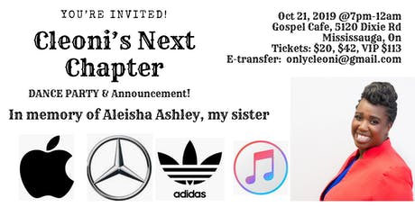 Cleoni's Next Chapter in memory of Aleisha Ashley tickets