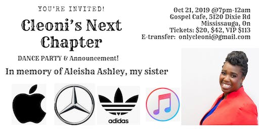 Cleoni's Next Chapter in memory of Aleisha Ashley