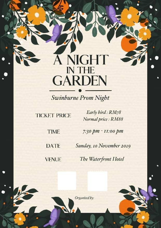 Swinburne Prom Night 2019 A Night In The Garden