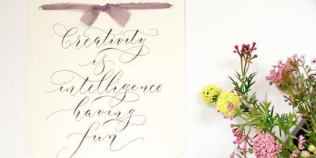 BRUSH LETTERING FOR BEGINNERS with By Moon & Tide tickets