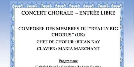 Really Big Chorus Concert Chorale - Entree Libre !! billets