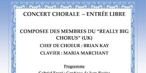 Really Big Chorus Concert Chorale - Entree Libre !!
