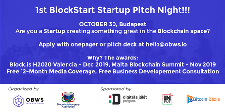 Open Blockchain & Blockchain Hungary Association Presents  - 1st BlockStart Startup Day and Pitch Night tickets