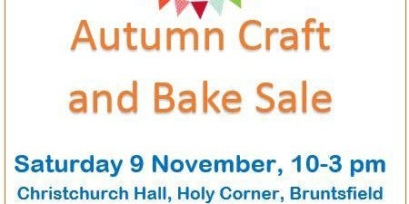 Marie Curie Autumn Craft and Bake Sale