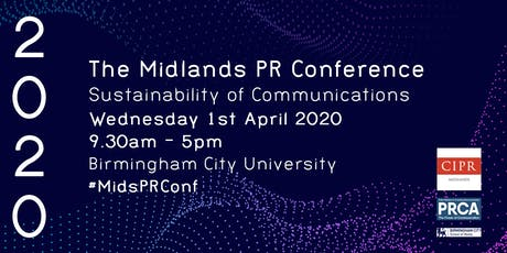 Midlands PR Conference: Sustainability of Communications tickets